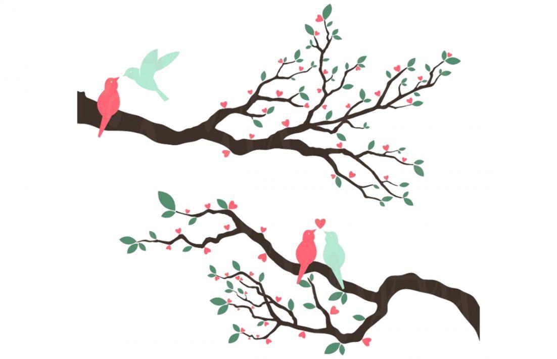Vintage Love Bird Clipart | Wallpapers Awards