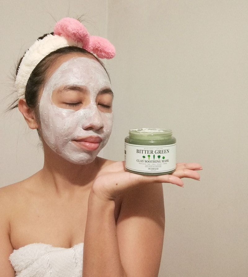 Bitter Green Clay Soothing Mask from Skinfood review