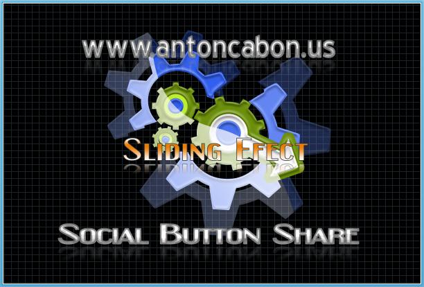 Cara Membuat Tombol Sosial Share Dengan Efek Slider
