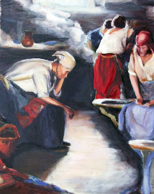 After Arkhipov The Washer Women study