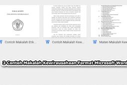 3 Pola Makalah Kewirausahaan Format Microsoft Word