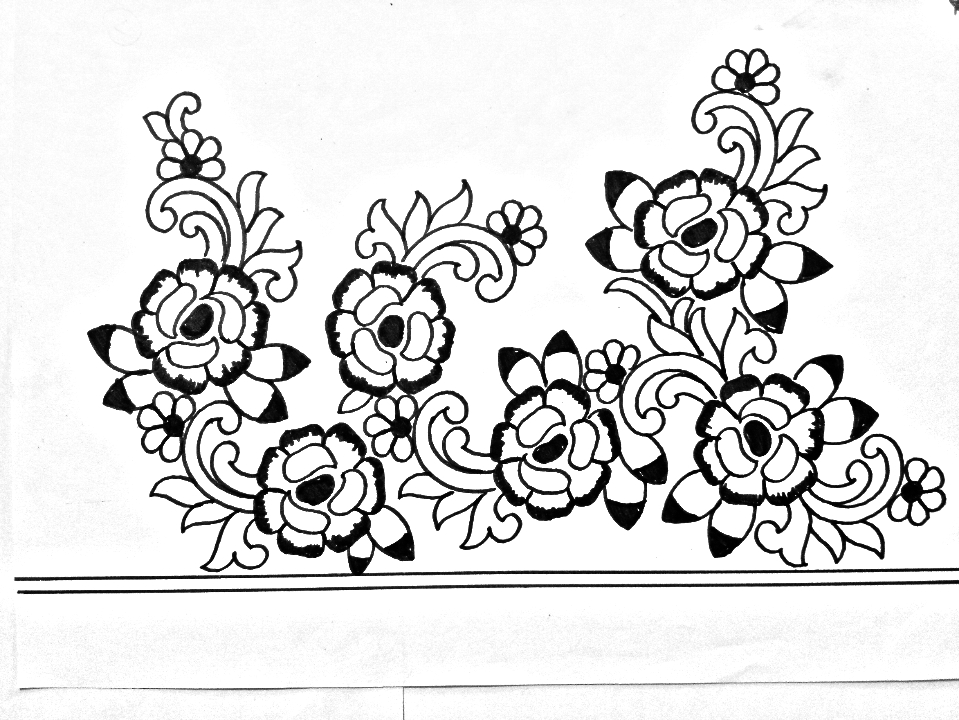 Hand Embroidery Design How To Draw An Easy Saree Border Design For