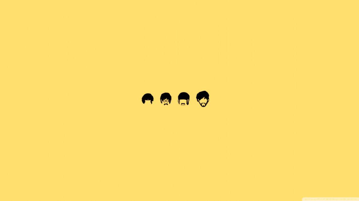 The Beatles Cartoon Desktop Wallpaper Wallpapers Minimalist