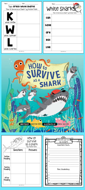 How to Survive as Shark Activities and Printables FREE