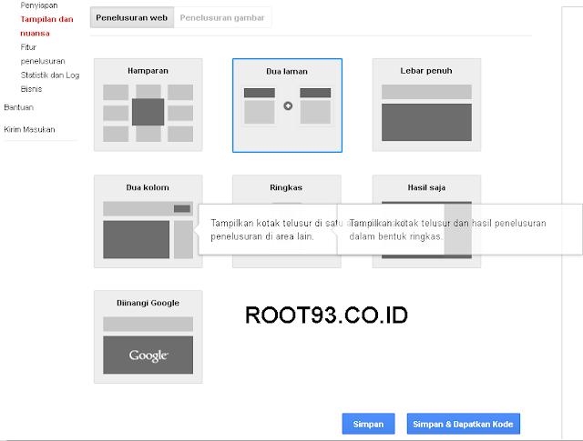 Menambahakan Gooogle Custom Search 5