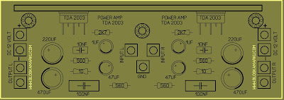Cara Membuat Power Amplifire Stereo TDA 2003 Layout dan PCB
