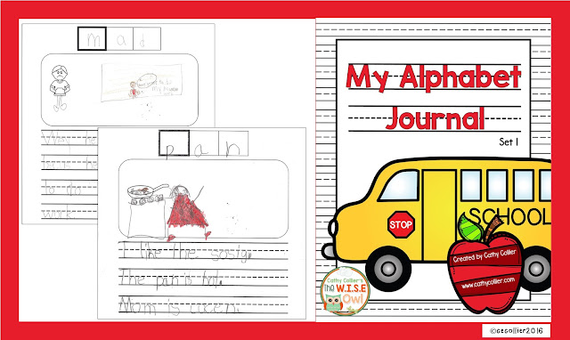 Alphabet Journals are a fun way to engage early writers. Decode, illustrate, write and repeat.