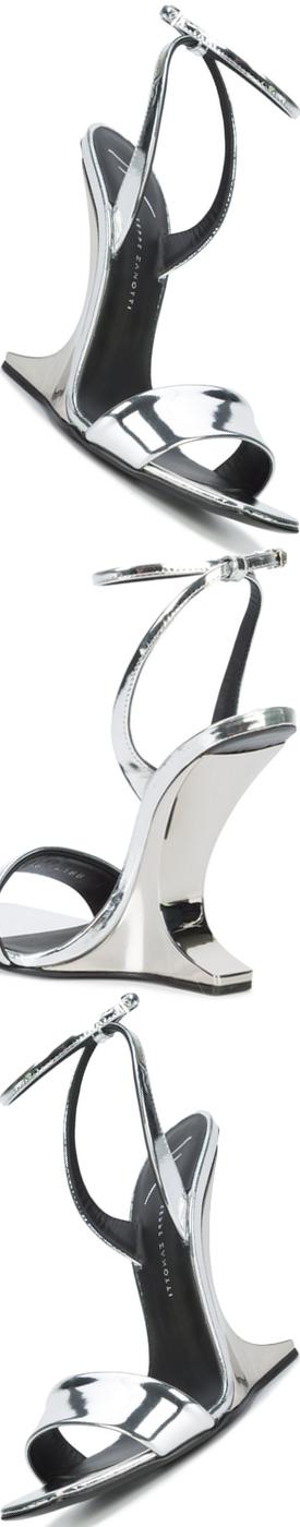 GIUSEPPE ZANOTTI DESIGN  Picard Sandals Silver