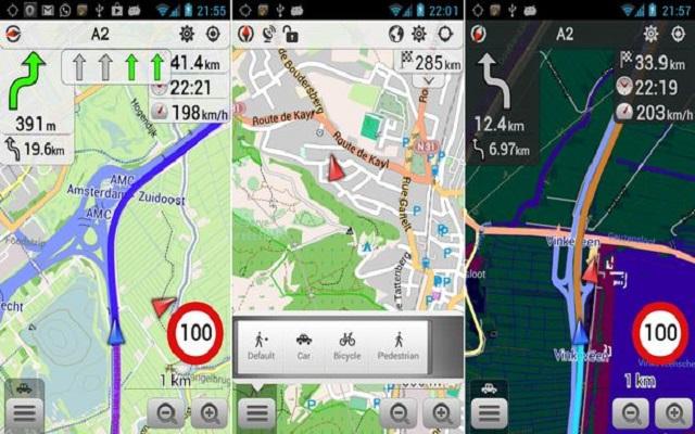 التطبيق Mapas y Navegación -OsmAnd