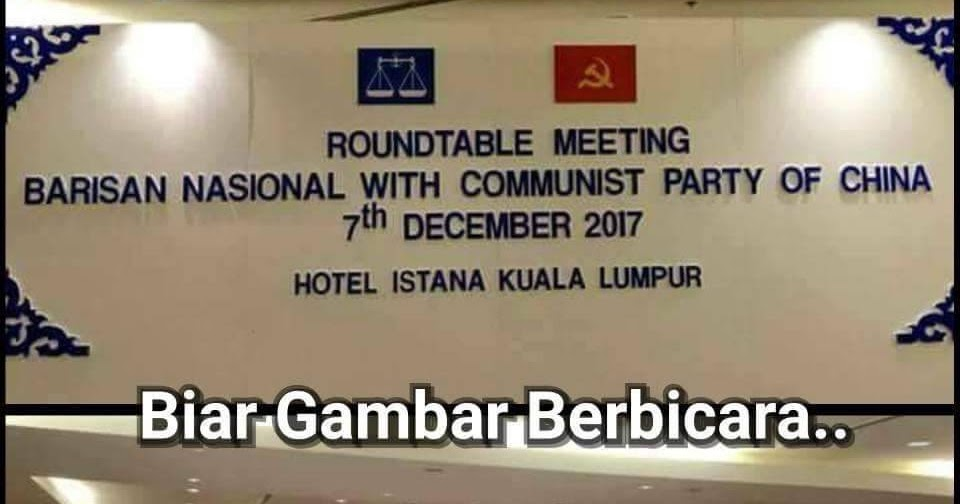 Image result for Gambar Umno dan Cina komunis