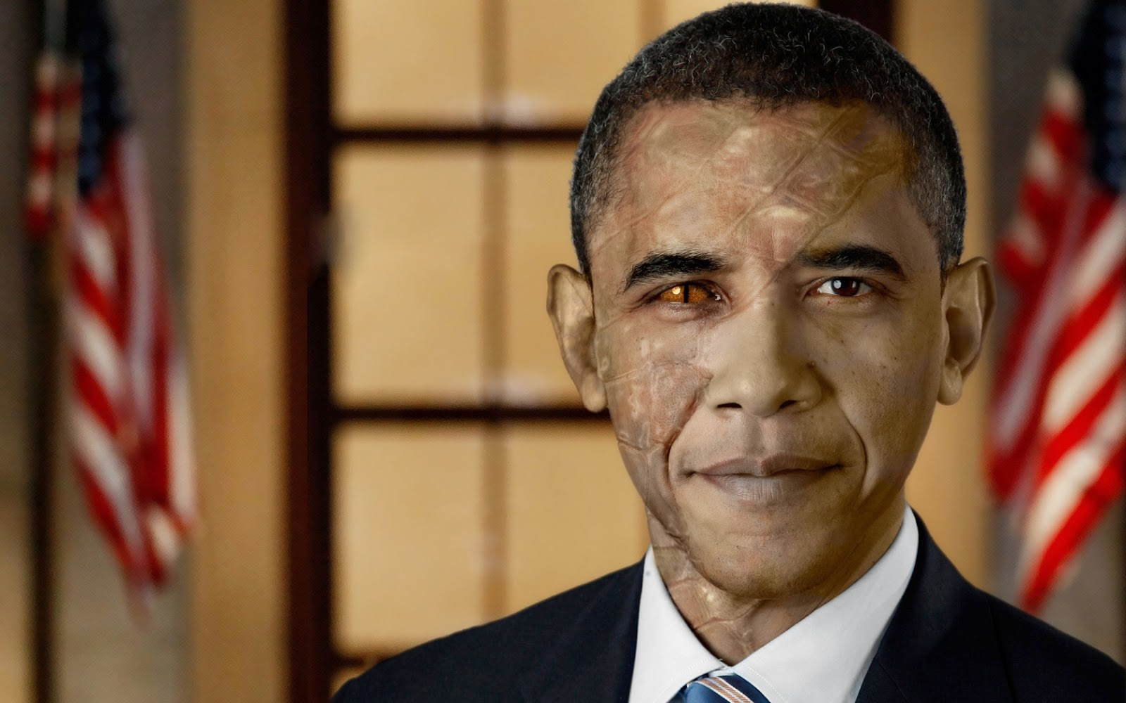 barack obama reptile people transformation twoface