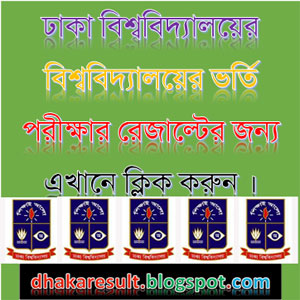 Dhaka University Admission Result 2015-16