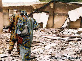 Iglesia cristiana destruida por islamistas