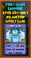Frost Giant - Wizard101 Card-Giving Jewel Guide