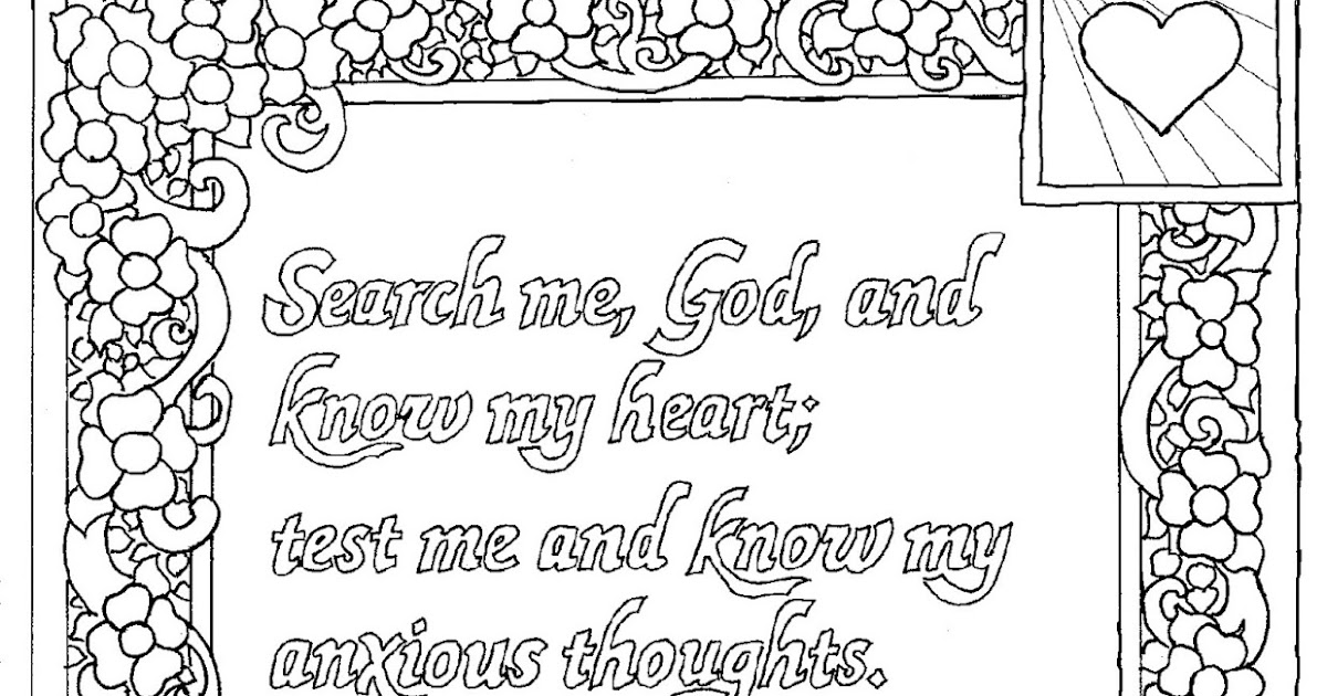 Psalm 139 23 Coloring Page