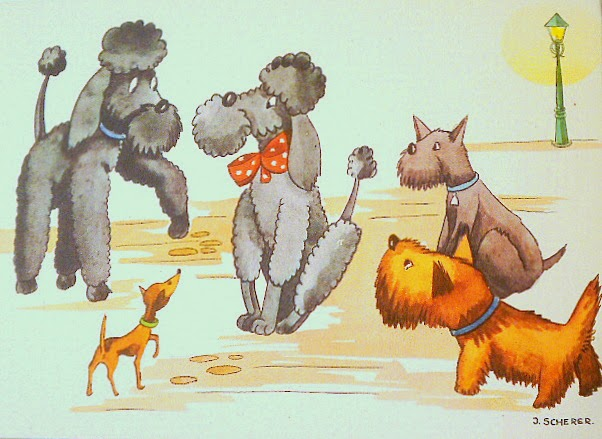 Vintage illustration of cute animals