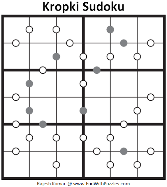 Kropki Sudoku (Sudoku for Kids #71)