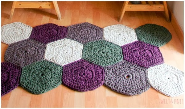 Em rita desastre crochet alfombras de trapillo uniendo - Alfombras de trapillo originales ...