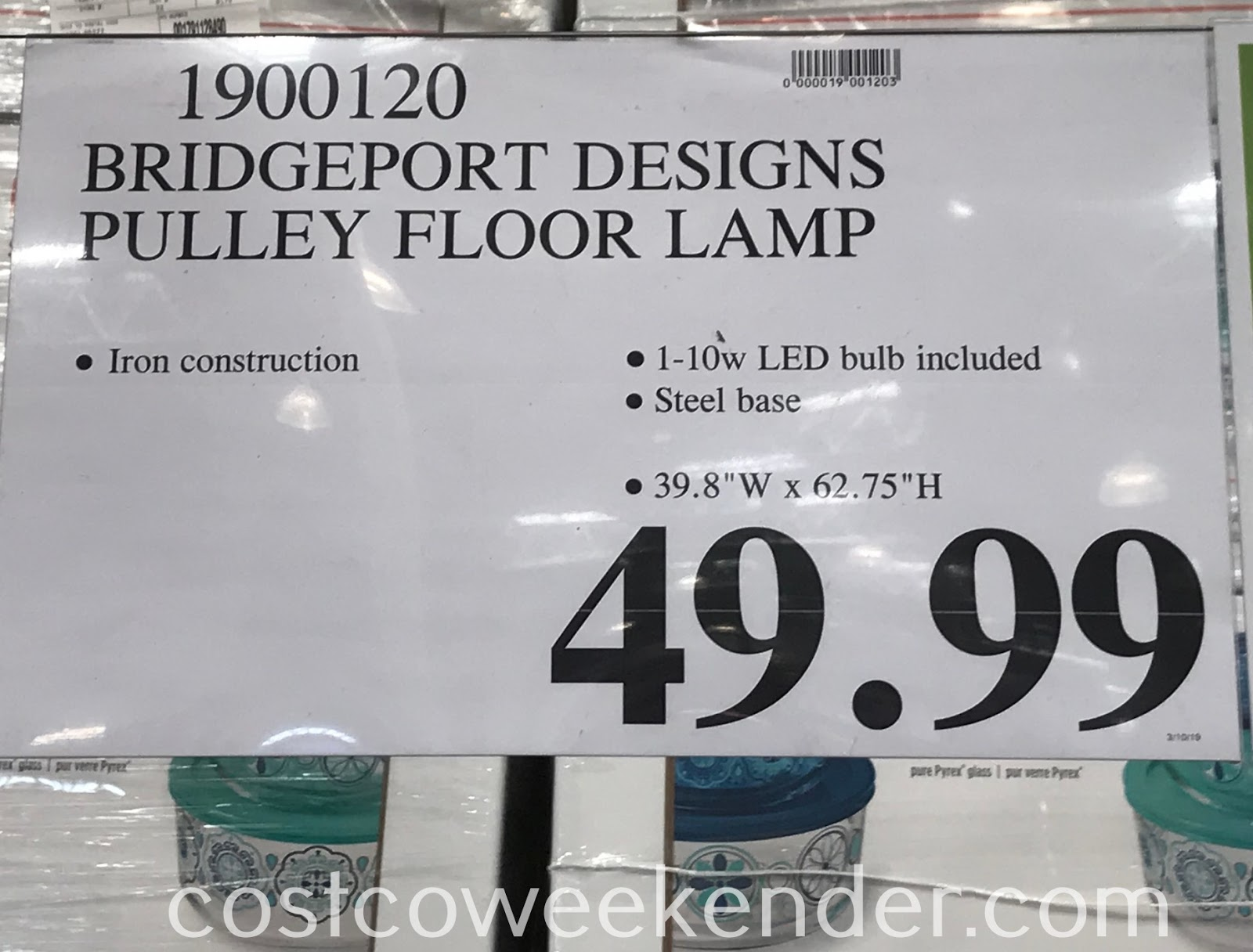 Deal for the Bridgeport Designs Pulley Floor Lamp at Costco