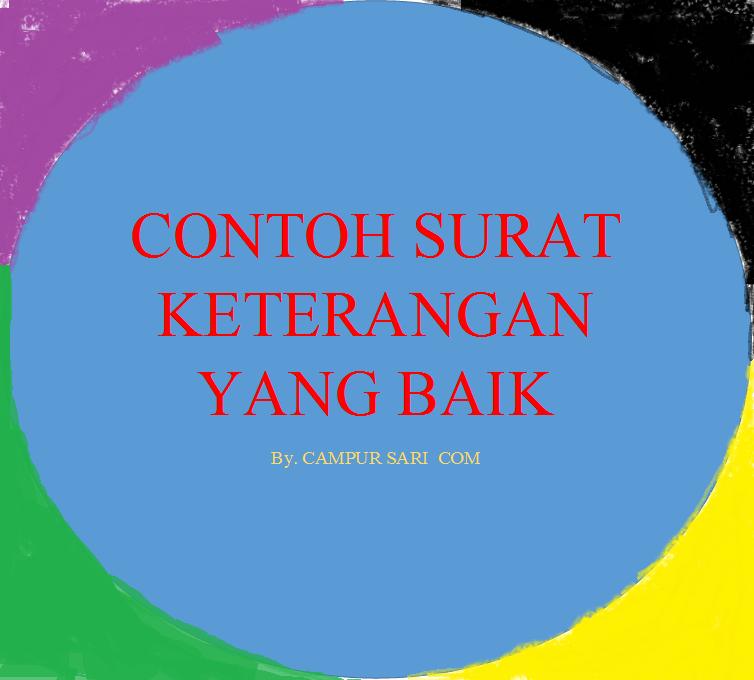 Contoh Surat Dispensasi Dan Surat Rekomendasi Campur Sari Com