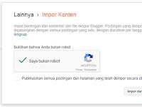 Cara Impor Artikel Blog di Blogspot