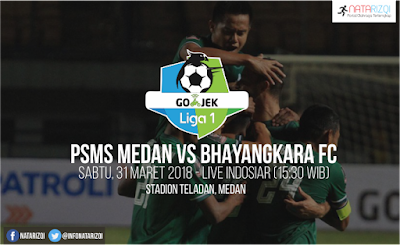 Live Streaming PSMS Medan vs Bhayangkara FC