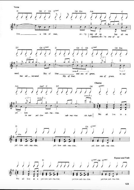 The Beatles - Yellow Submarine partitura