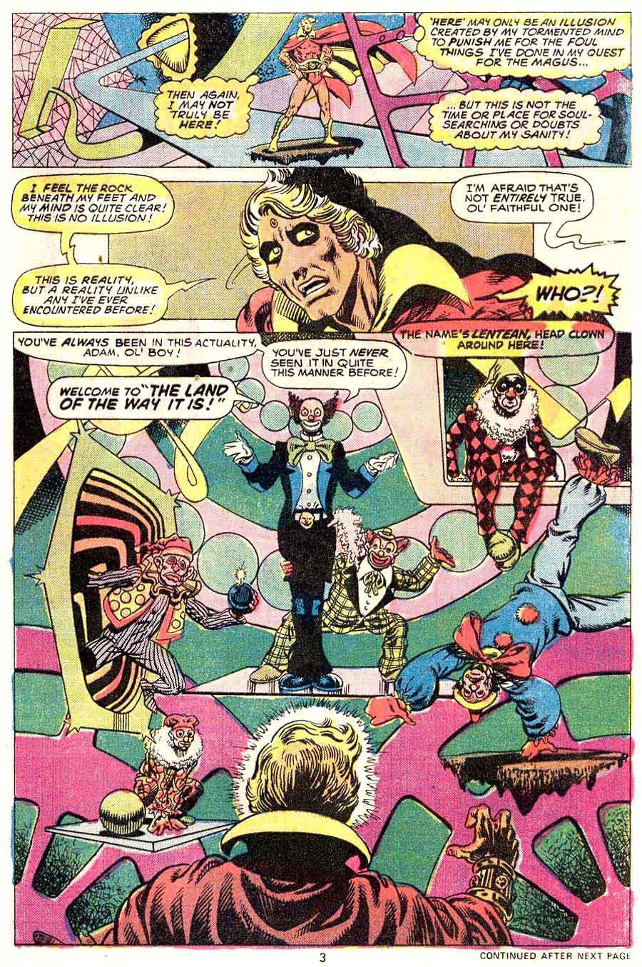 Strange Tales v1 #181 marvel warlock comic book page art by Jim Starlin