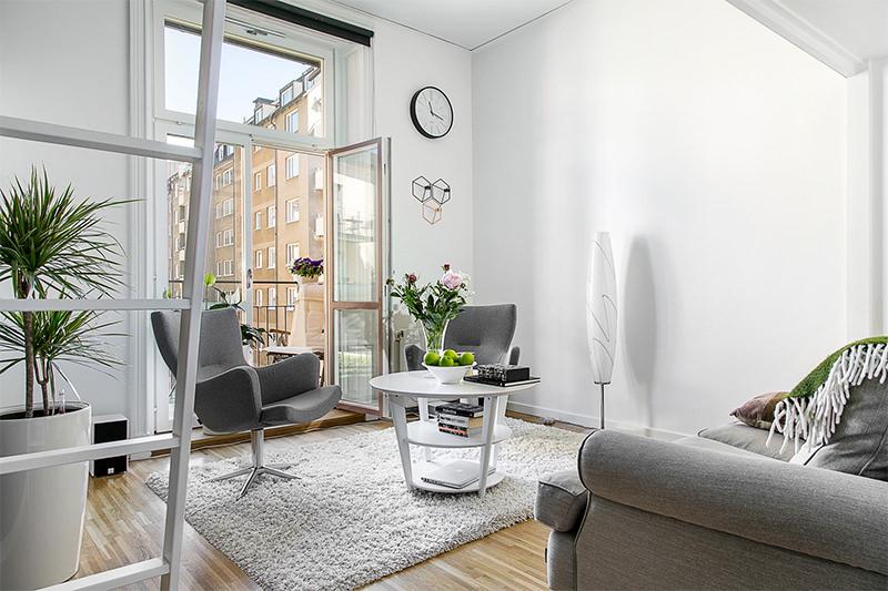 Mulher virtuosa design escandinavo for Sala de 9 metros quadrados