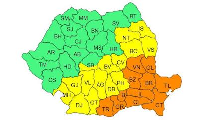 ANM, időjárás előrejelzés, Románia, Székelyföld, hidegfront