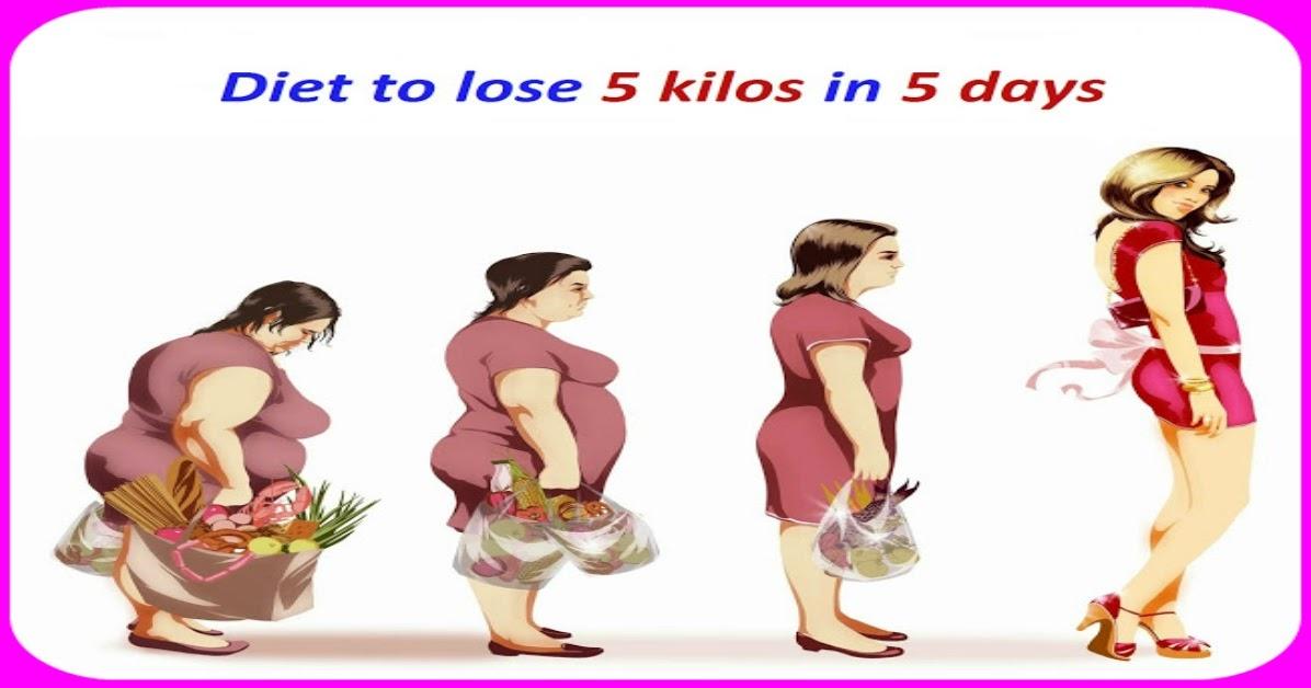Diet to lose 5 kilos in 2 months