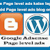 Adsense Page level ads Blogger Aur Wordpress me Kaise Lagaye