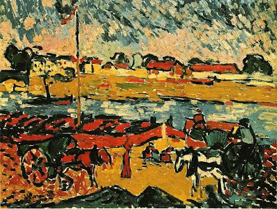 Maurice de Vlaminck, La Seine a Pont de Chatou. 1905-06, oil on canvas, 54.5 x 74cm