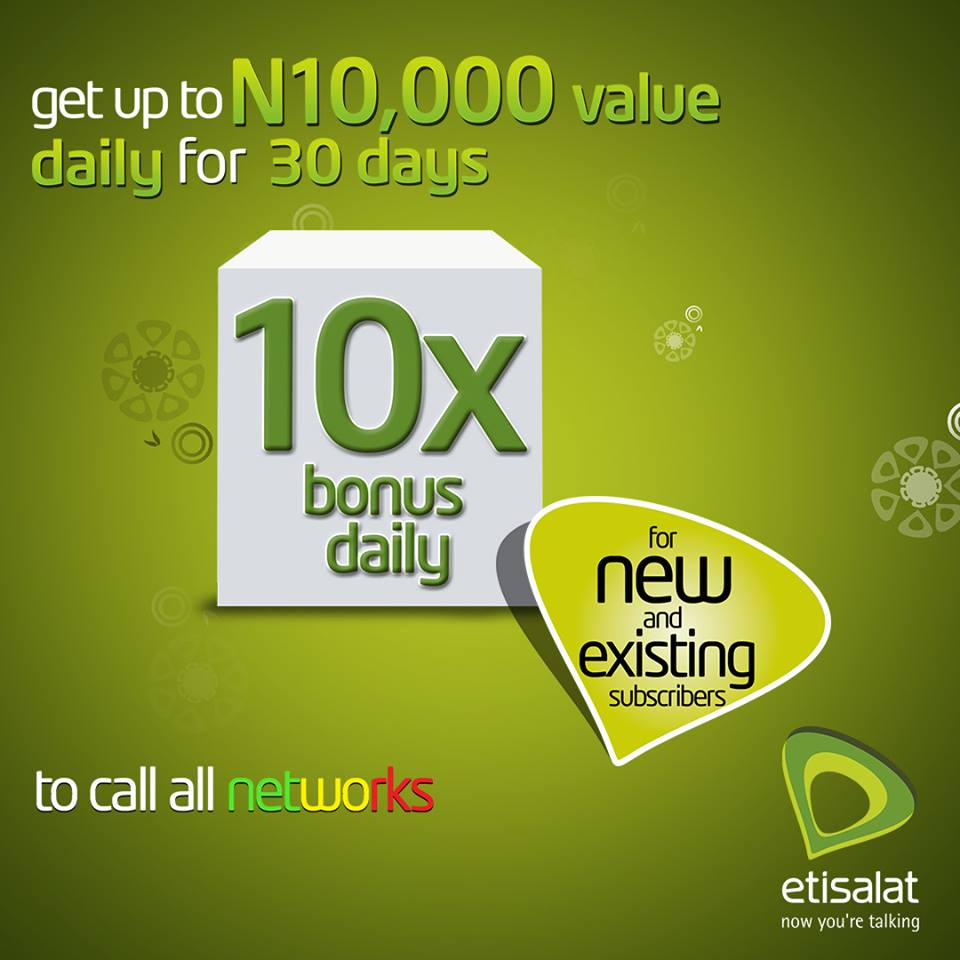 How to Enjoy Etisalat Revamped Super N10000 Bonus Offer