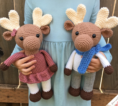 Amigurumi Moose - a free crochet-a-long