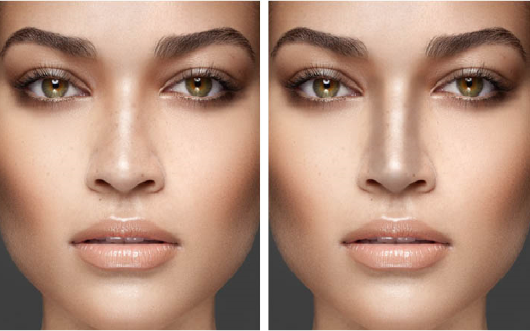 how to make your nose look thinner with makeup