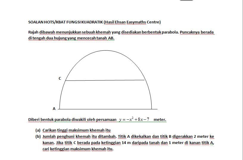 Contoh Soalan Kbat Matematik Tambahan Tingkatan 4 - V Soalan