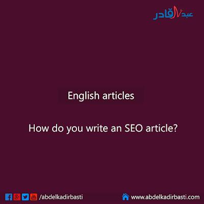 How do you write an SEO article