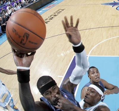 Foto divertida en el basquetbol