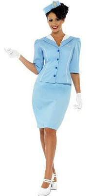 Retro Pan-Am style air hostess costume