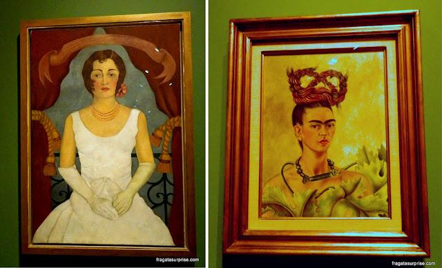 Retrato de uma mulher de Branco (1929) e Autorretrato com Trança (1941)