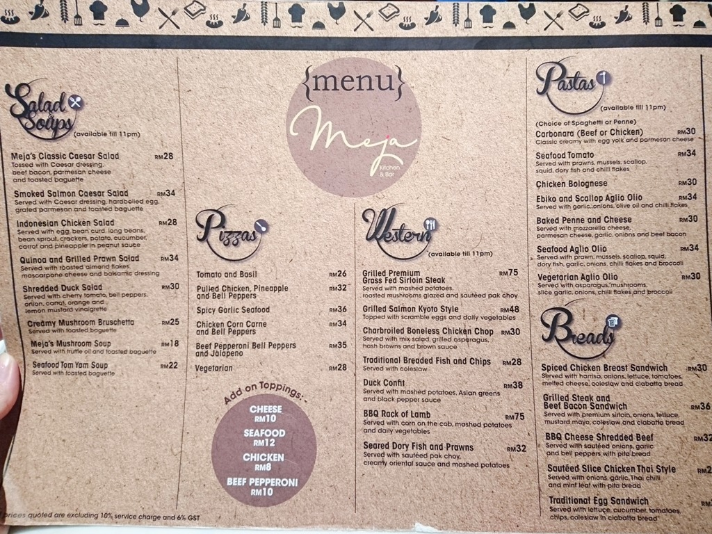 Beaufiful Kitchen Bar Menu Pictures >> Menu Picture Of Olive Kitchen ...