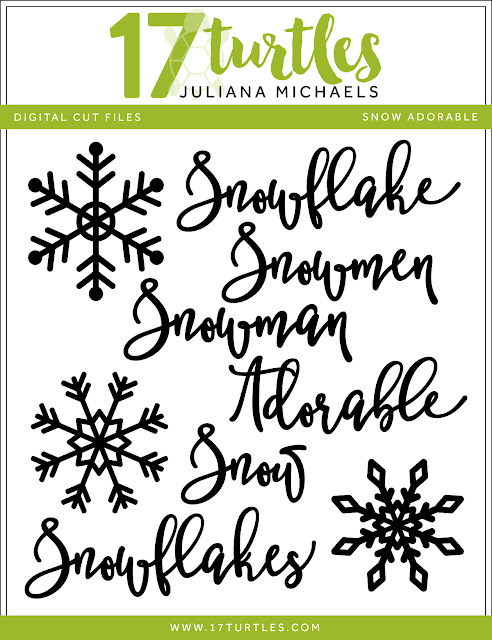 Snow Adorable Free Digital Cut File by Juliana Michaels 17turtles.com
