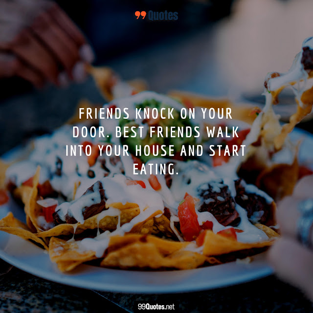 funny quote on food and friendship