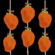 吊るされた干し柿のイラスト