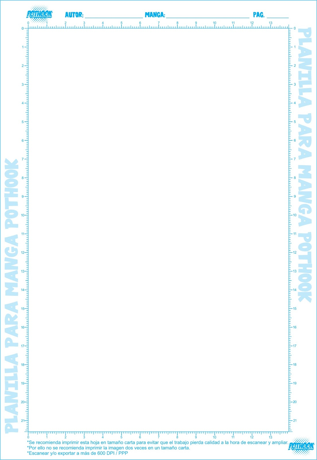 RECURSOS] Planillas para dibujar manga - Pothook