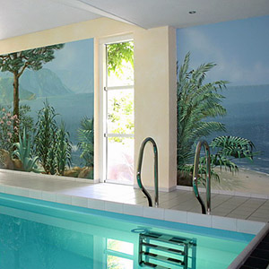 Wandmalerei und Illusionsmalerei im Schwimmbad
