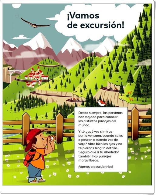 """""""¡Vamos de excursión!"""" (Proyecto sobre los Paisajes de Ciencias Sociales de 1º de Primaria)"""