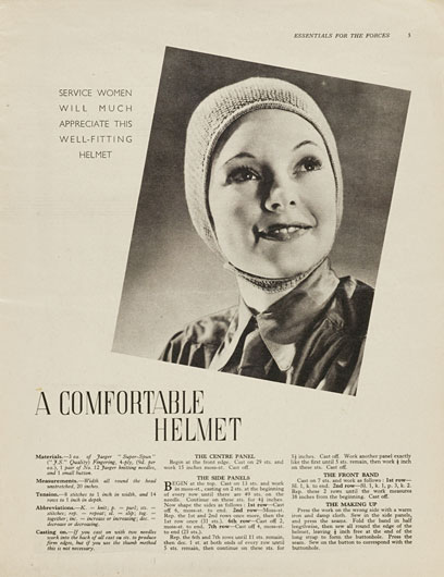 1940's Knitting - A Comfortable Helmet