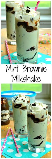 Mint Brownie Milkshake